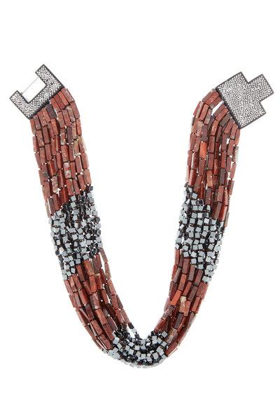 Patricia von Musulin - Sterling Silver Ebony Jasper Strand Necklace