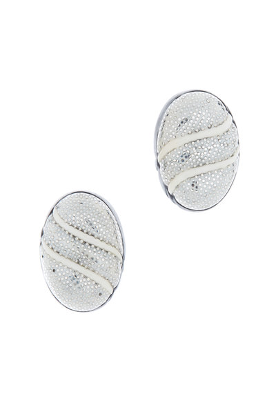 Patricia von Musulin - Sterling Silver Ivory & Ebony Dome Earrings