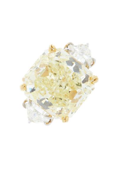 Louis Newman - Fancy Yellow Diamond Bridal Ring