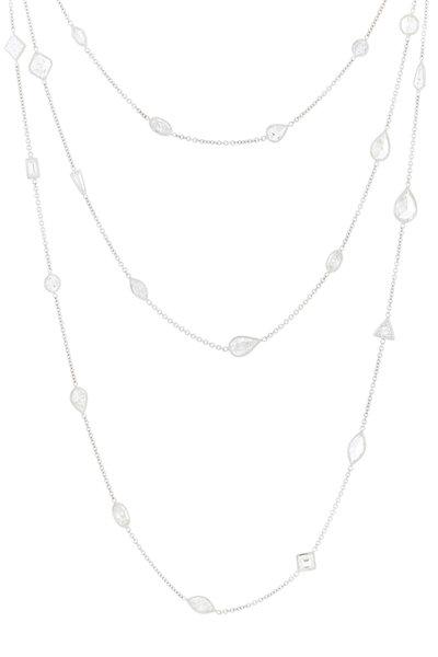Louis Newman - Platinum Diamond Station Necklace