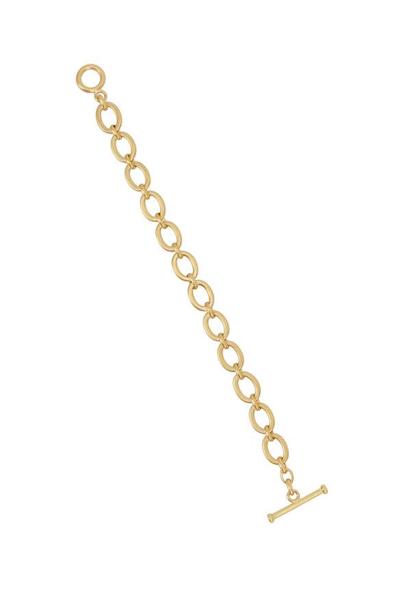 Caroline Ellen 20K Yellow Gold Flat Link Chain Bracelet
