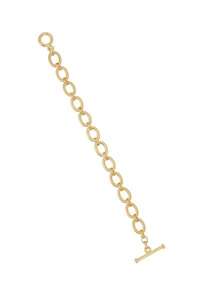 Caroline Ellen - 20K Yellow Gold Flat Link Chain Bracelet