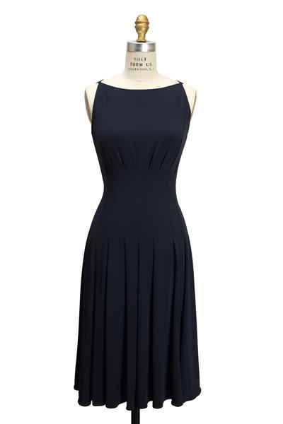Emporio Armani - Navy Blue Jersey Dress