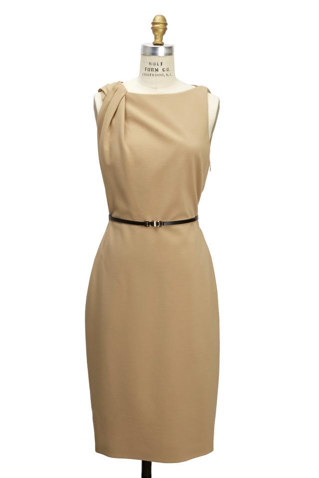 Sand Ponte Jersey Dress
