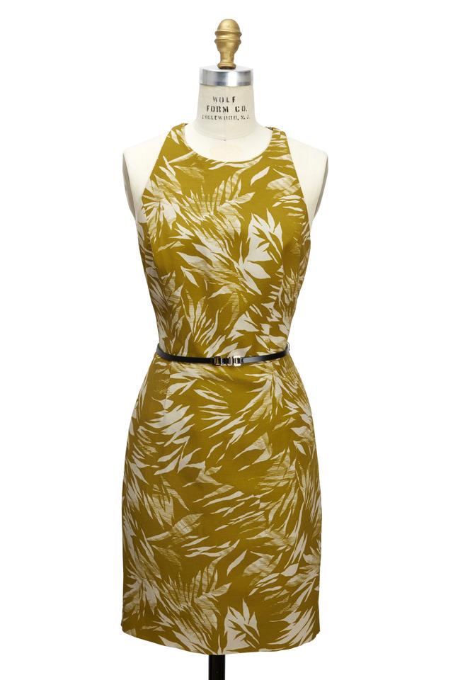 Yellow Botanical Racerback Dress