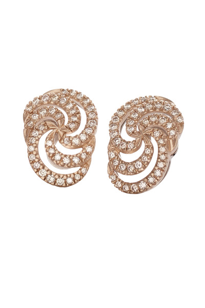 H. Stern - Iris Red Gold Diamond Earrings