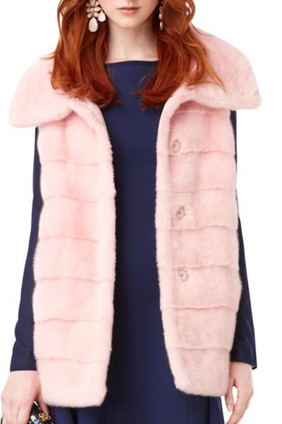 Oscar de la Renta Furs - Pink Mink Vest