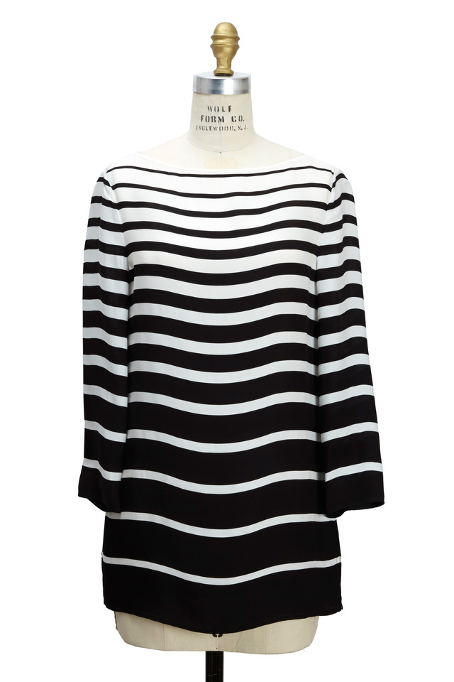 Linette Black & White Cady Tunic