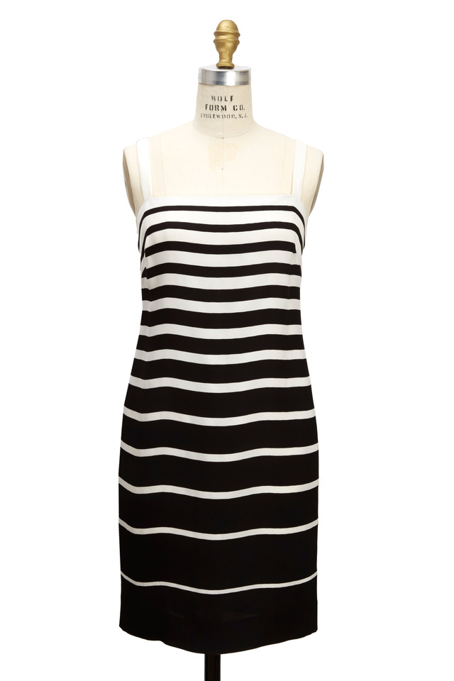Lani Black & White Cady Dress