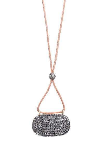 Tulah Jem - Leather Pavé Black Diamonds Bracelet