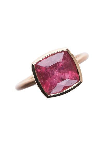 Irene Neuwirth - Rose Gold One-Of-A-Kind Pink Tourmaline Ring