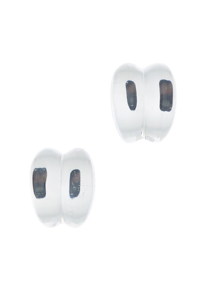Patricia von Musulin - Sterling Silver Lucite Scroll Earrings