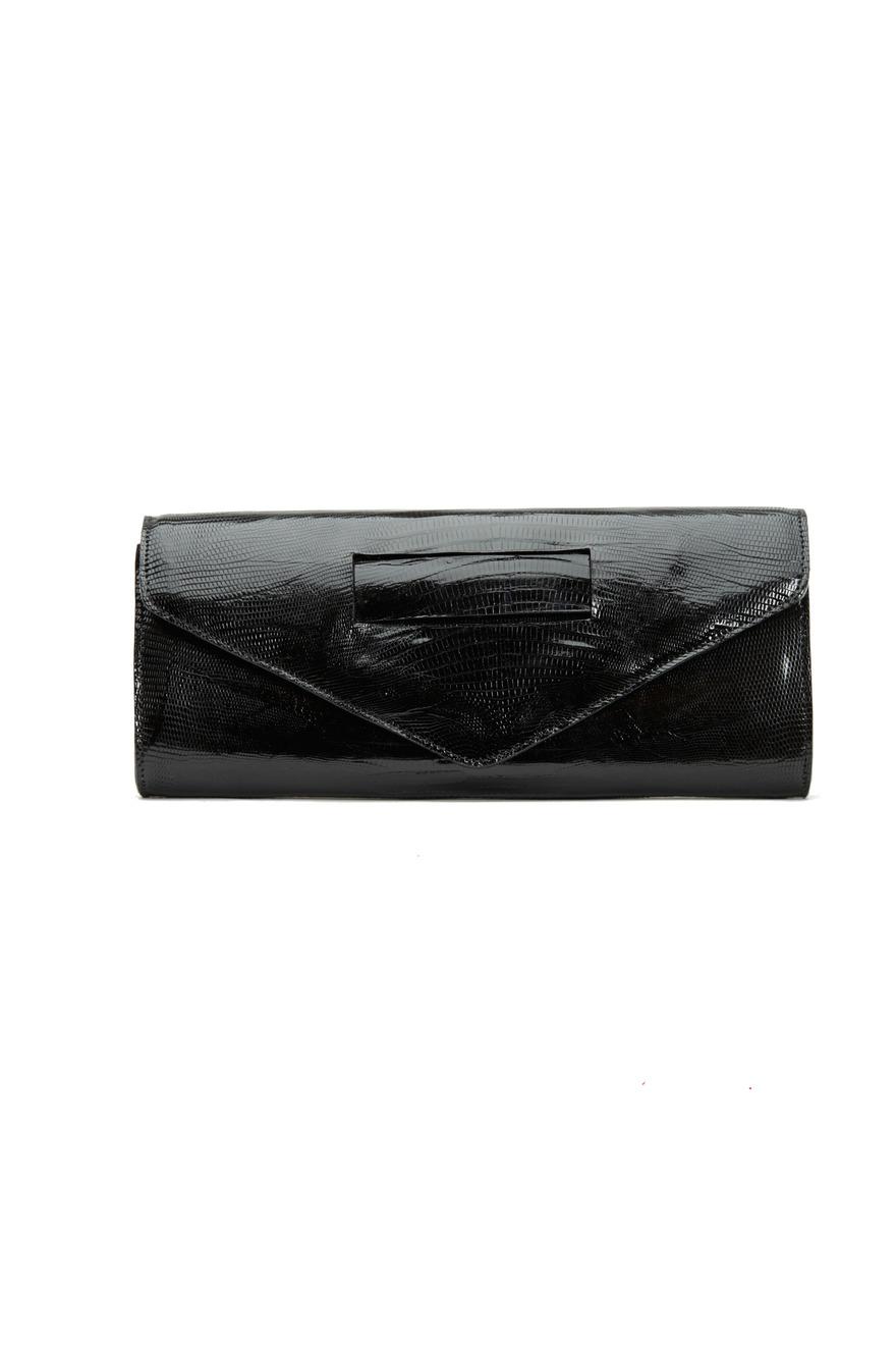 Ashley Style Black Lizard Clutch