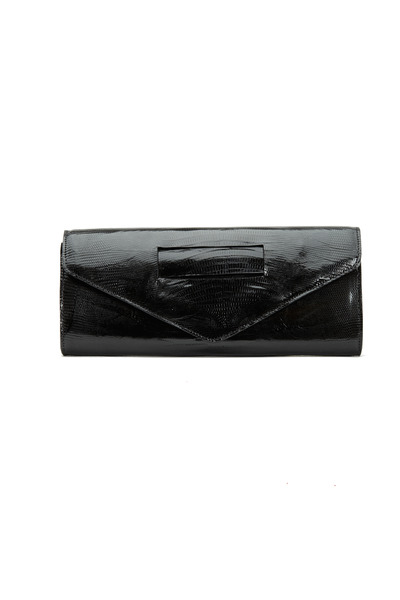 Daniella Ortiz - Ashley Style Black Lizard Clutch