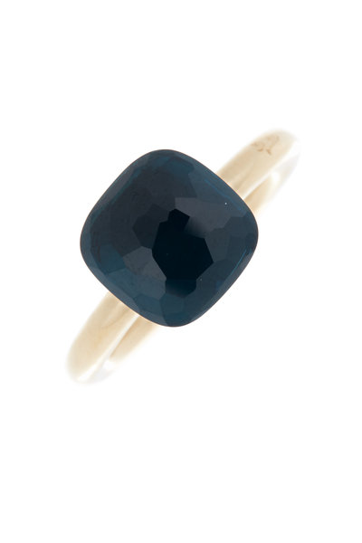 Pomellato - Nudo 18K Rose Gold London Blue Topaz Ring