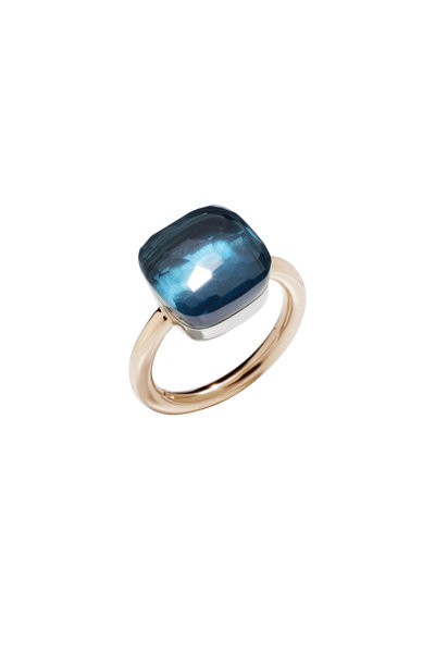 Pomellato - 18K Pink Gold London Blue Topaz Ring