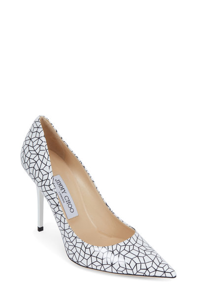 Jimmy Choo - Abel Graphic Patent Leather Pump,100mm