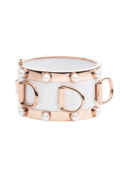 Eddie Borgo - Rose Gold Plated Pearl D-Ring Cuff
