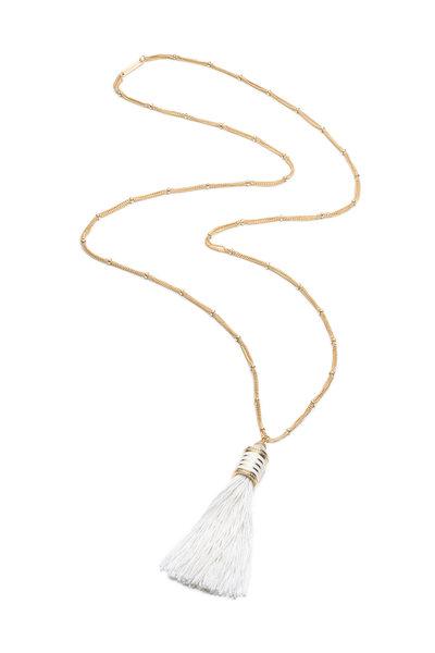Eddie Borgo - Yellow Gold Plated Silk Tassel Pendant Necklace