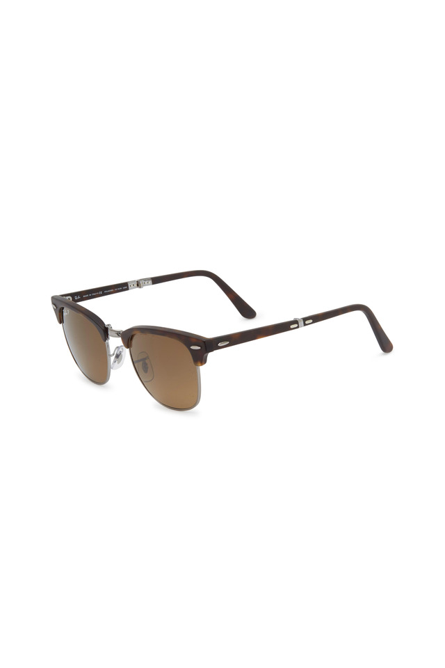 Clubmaster Folding Havana Sunglasses