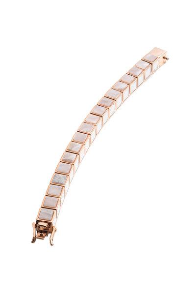 Eddie Borgo - Rose Gold Plated Inlaid Cube Bracelet