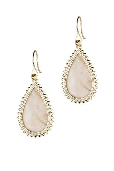 Eddie Borgo - Gold Plated Small Pavé Teardrop Earrings