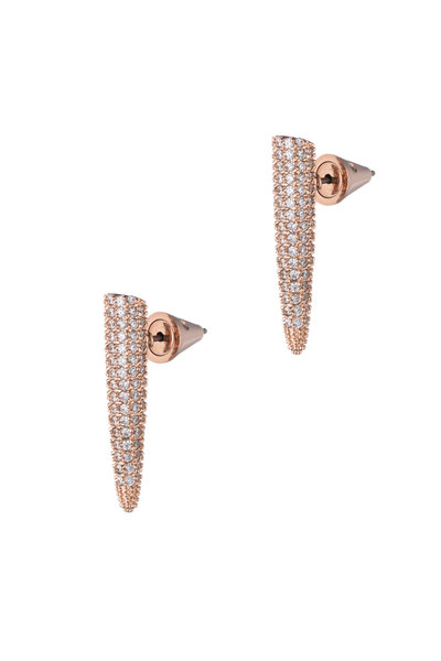 Eddie Borgo - Rose Gold Plated Mini Pavé Spike Earrings