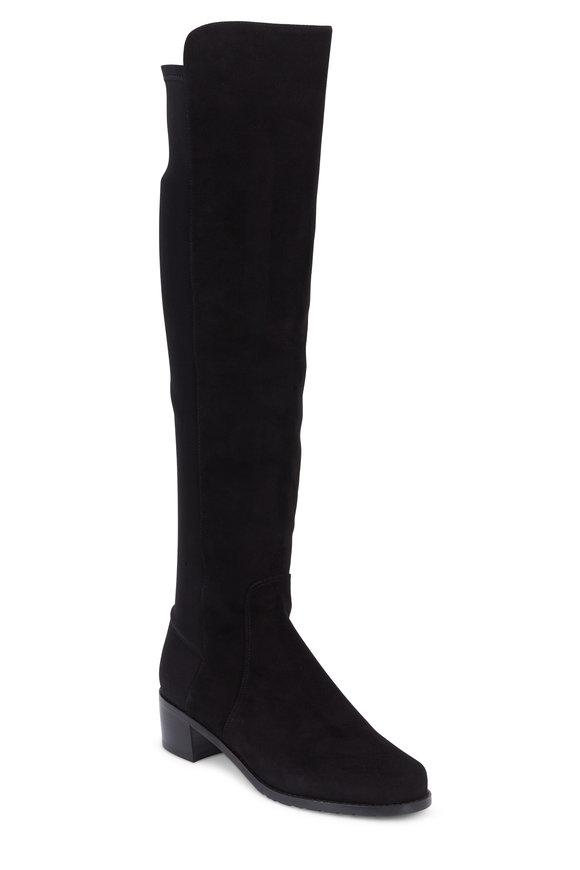 Stuart Weitzman Reserve Black Suede Over-The-Knee Boot, 40mm