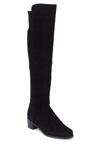 Stuart Weitzman - Reserve Black Suede Over-The-Knee Boot, 40mm