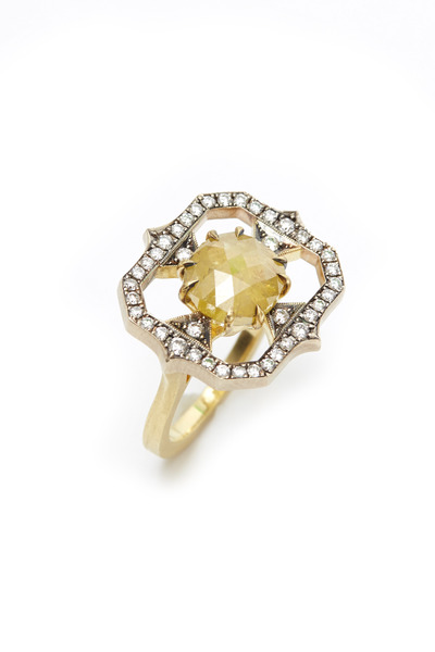 Sylva & Cie - Yellow Gold Rough Diamond Ring