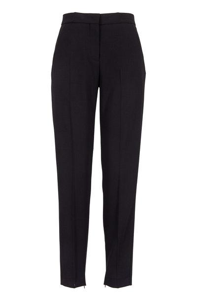 Narciso Rodriguez - Black Wool Ankle Zip Slim Pants
