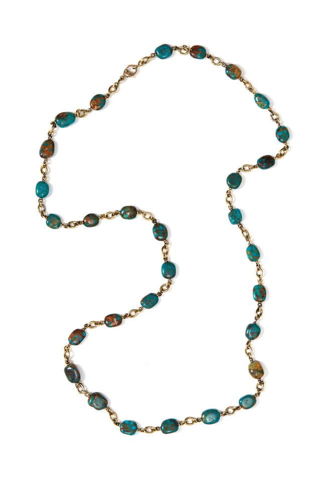 Kingman Turquoise Beaded Necklace