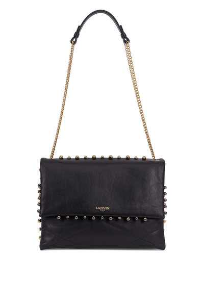 Lanvin - Sugar Black Leather Medium Chain Shoulder Bag