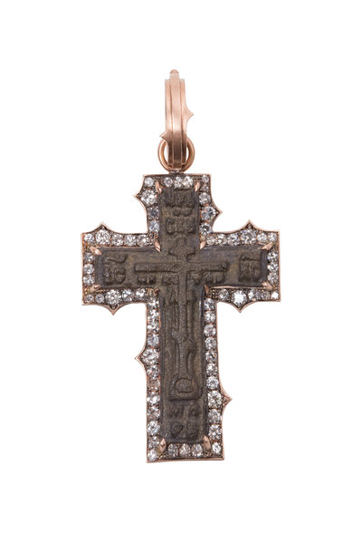 Sylva & Cie - 14K Rose Gold Icon Cross Pendant