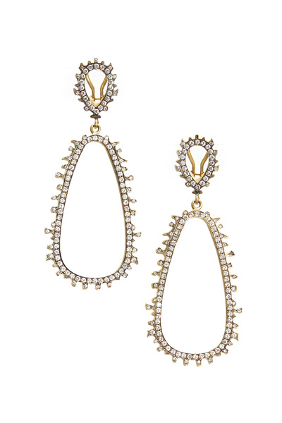 Sylva & Cie - Yellow Gold Diamond Dangle Urchin Earrings