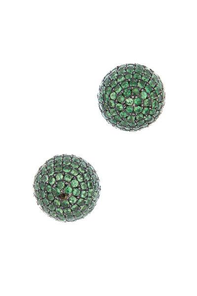 Loren Jewels - 18K Gold & Silver Tsavorite Studs