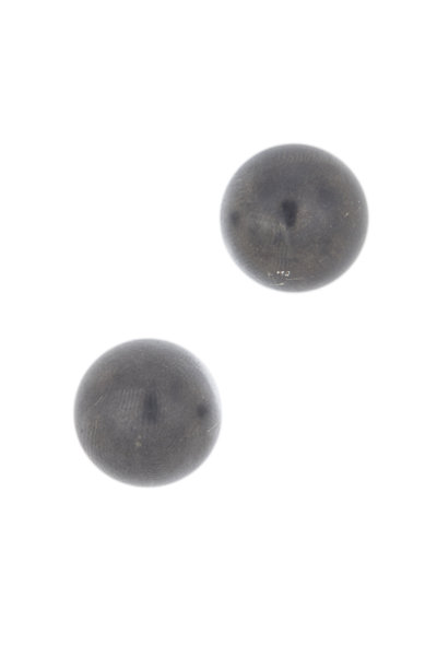 Loren Jewels - Brushed Sterling Silver Pearl Studs