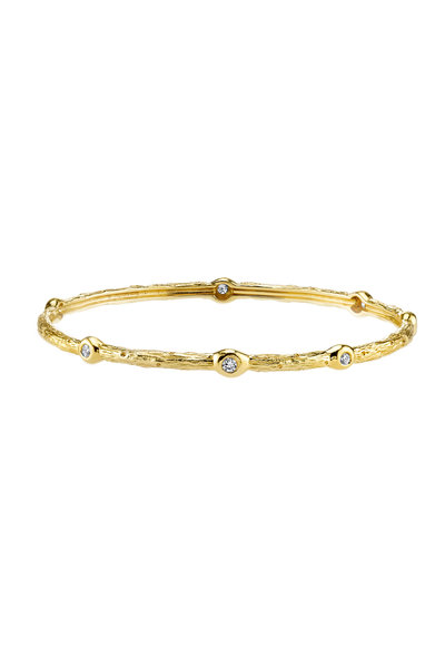 Aaron Henry - 19K Yellow Gold Diamond Arbor Bangle