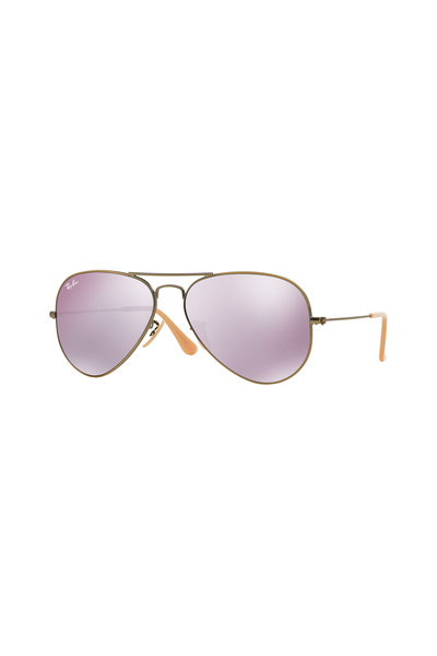 Ray Ban - Aviator Bronze & Lilac Mirror Lens Sunglasses