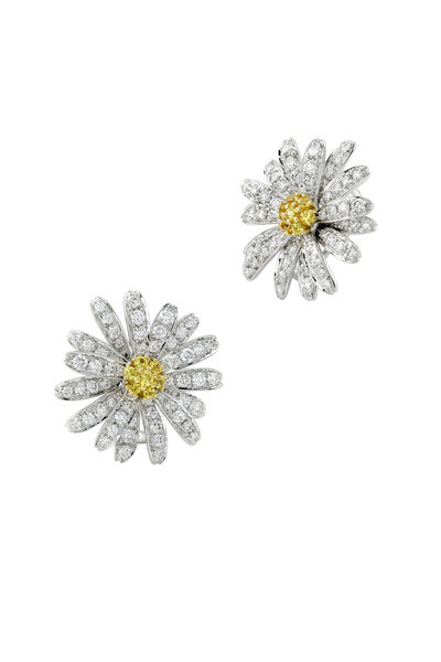 Aaron Henry - 18K Gold Yellow Sapphire & Diamond Daisy Earrings