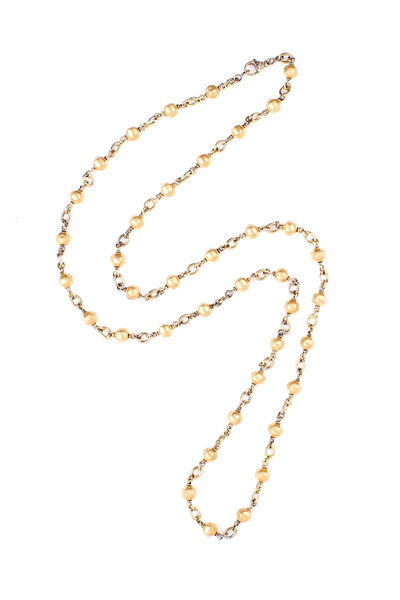 Sylva & Cie - 18K Yellow Gold Round Bead Chain