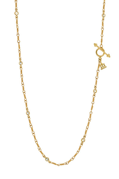 Temple St. Clair - Yellow Gold White Sapphire Wrap Necklace