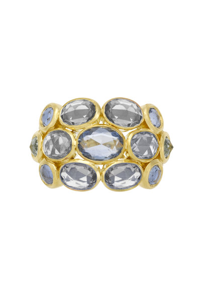 Temple St. Clair - 18K Yellow Gold Sapphire & Diamond Ring