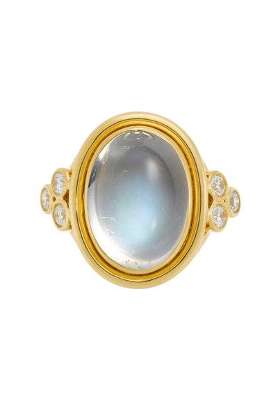 Temple St. Clair - 18K Yellow Gold Moonstone & Diamond Ring