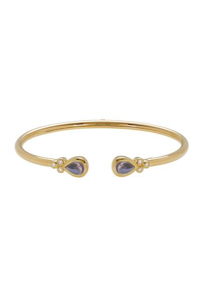 Temple St. Clair - 18K Yellow Gold Iolite & Diamond Belina Bracelet