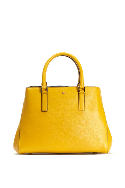 Anya Hindmarch - Mini Soft Ebury Mustard Leather Small Satchel