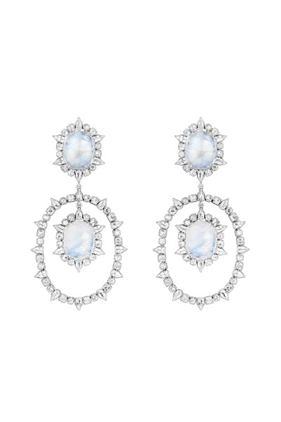 Emily & Ashley - Rainbow Moonstone Earrings
