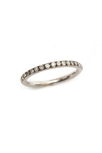 Sylva & Cie - White Gold Rough Diamond Stack Ring