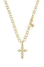 Temple St. Clair - 18K Yellow Gold Diamond Cross Pendant