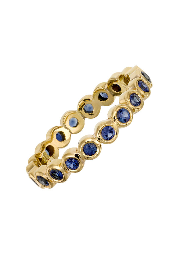 Temple St. Clair 18K Yellow Gold Sapphire Eternity Ring